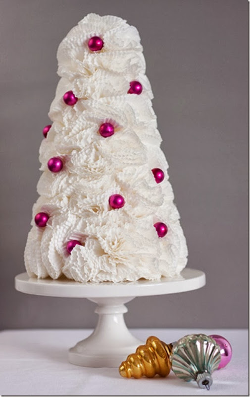 case e interni - decorazioni natalizie fai da te - diy - alberelli carta