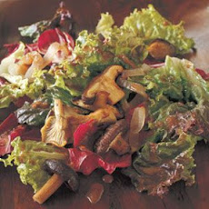 Roasted Mushroom and Shallot Salad with Balsamic Vinaigrette