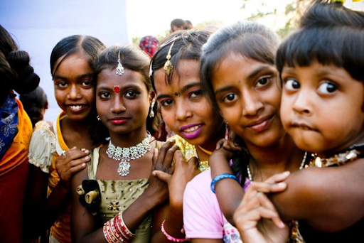 Puja -- 2nd from left in 2011