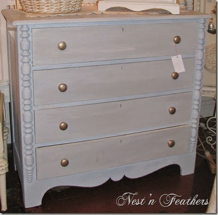 Blue grey dresser AFTER