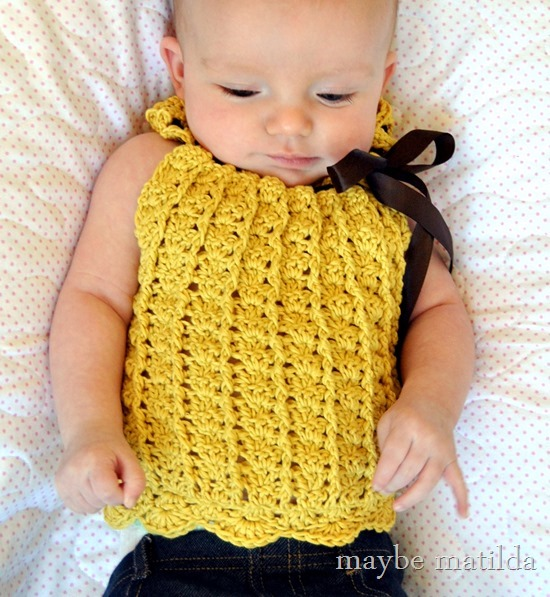 Gorgeous crochet baby top!