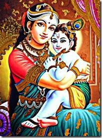 [Lord Krishna with mother Yashoda]