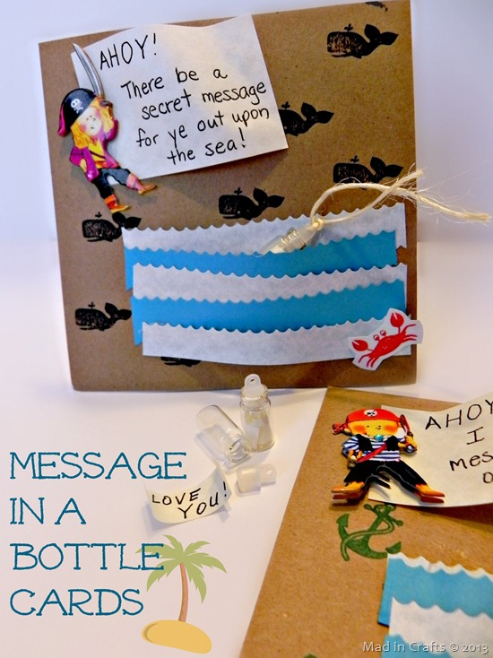Message in a Bottle Cards (invitations or valentines)