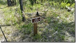 Sign to campsite - follows blue blazes