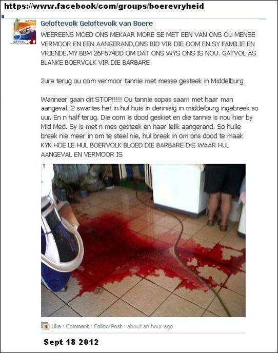 MIDDELBURG AFRIKAANS COUPLE FACEBOOK PAGE GELOFTEVOLK VAN BOERE SEPT182012