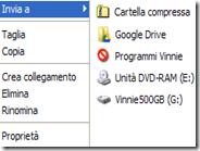 Aggiungere Google Drive al menu Invia a del tasto destro del mouse