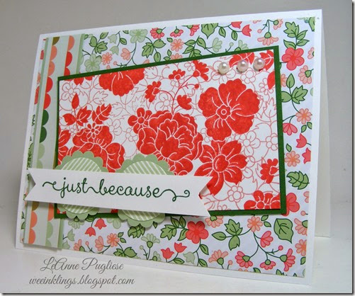 LeAnne Pugliese WeeInklings Hello Darling Stampin Up A Dozen Thoughts Stampin UP