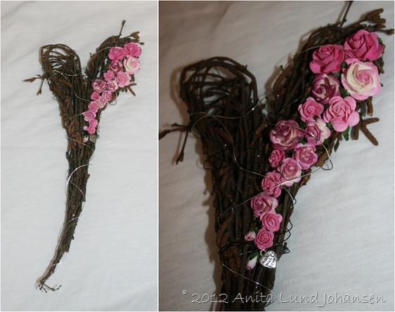 Bjørkehjerte rosa roser