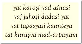 Bhagavad-gita, 9.27