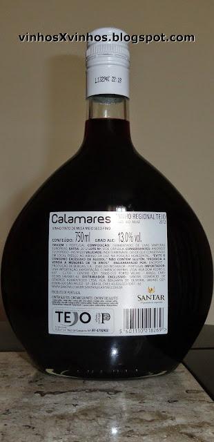 Garrafa vinho calamares