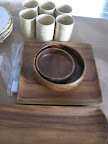 Wood plate and bowl options for our