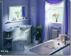 baño Interior azul monocromatico  pintomicasa com