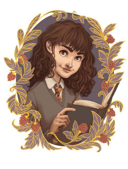Books and Cleverness Hermione Granger Art from flomino