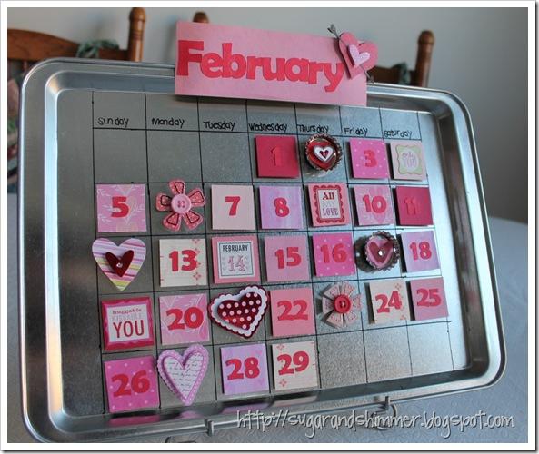 February Magnetic Calendar