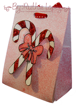 Candy Cane digi Stamp - Platypus Creek Digital - Christmas Treat Box