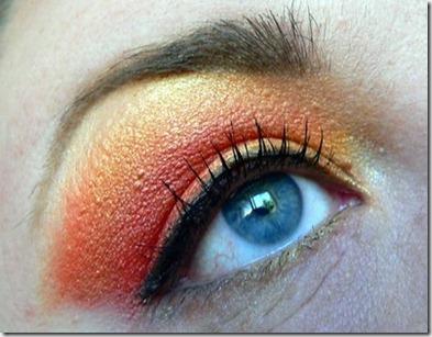 orangerött öga