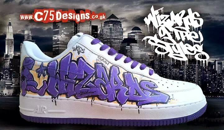 Custom Painted Nike Shoes