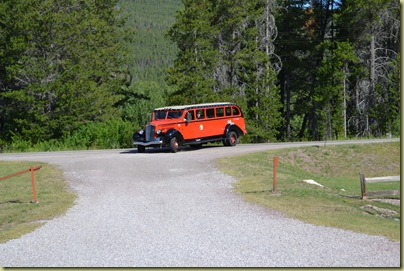 Red Bus arrives to pick us up