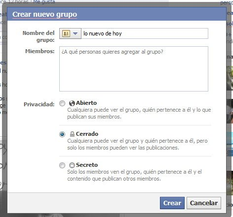 grupo secreto en Facebook