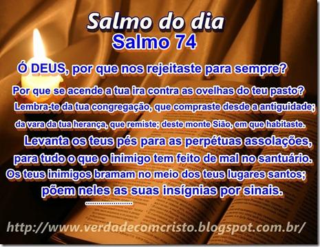 SALMO DO DIA - 74