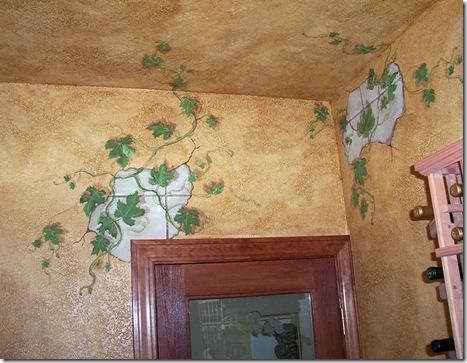wine room mural 1