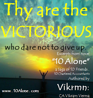 10 Alone by Vikrmn Thy are the VICTORIOUS CA Vikram Verma