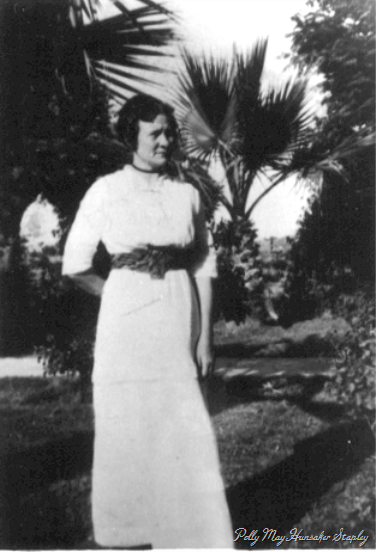 Polly May Hunsaker Stapley, about 1916