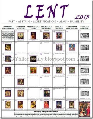 White 2013 Lenten Calendar EO