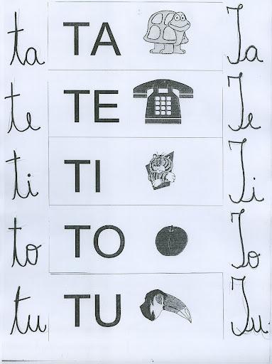 Ta Te Ti To Tu   Silabas