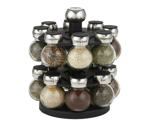 I love this spice rack -- it's easy to keep your spices organized while cooking for the holidays.