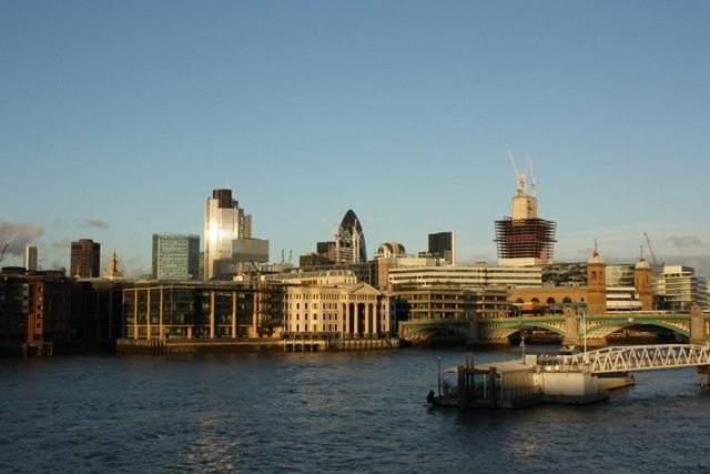 The City of London from the Millennium Bridge