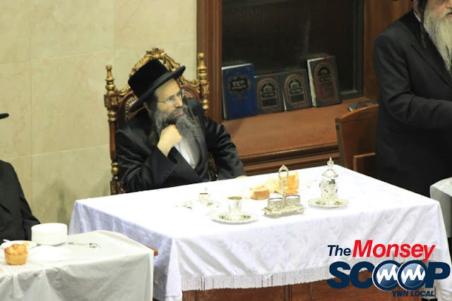 Yartzheit Tish For Stamar Rebbe Held In Satmar Beis Medrash Of Monsey (Photos by Moshe Lichtenstein) - IMG_5489.JPG