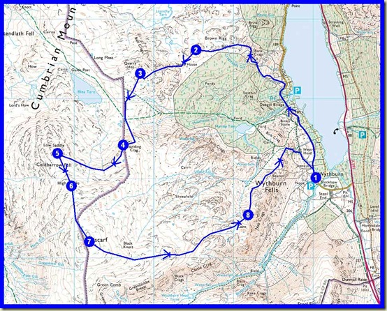 An Ullscarf Round - approx 13km, 600m ascent, 5 hours