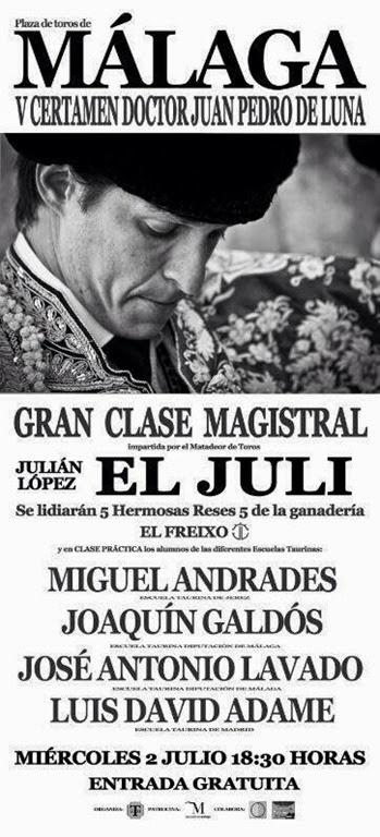 clase magistral de El Juli en Málaga