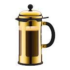 This gold French Press is so pretty, I wouldn't mind leaving it out on the counter all season long to make a quick cup when friends drop by to enjoy with holiday cakes and cookies. (Bodum Chambord french press coffee maker, $70, bodum.com)
