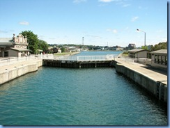 5057 Michigan - Sault Sainte Marie, MI -  St Marys River - Soo Locks Boat Tours - inside the Canadian recreational Lock