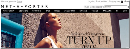 net a porter header area