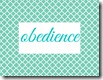 Virtue Group Signs - obedience