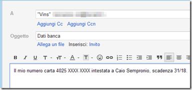 Scrivere un messaggio di posta elettronica