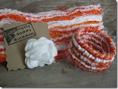 orange and white accessories