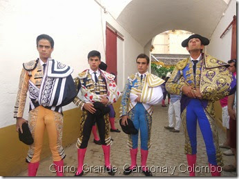 Linares 26-8-2014 - Curro, Grande, Carmona y Colombo
