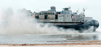 The U.S. Navy set a biofuel speed record using a Solazyme algae blend on December 9 on this LCAC (Landing Craft, Air Cushion)