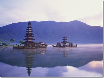 Pura Ulun Danu on Lake Bratan, Bali, Indonesia