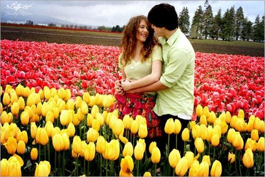 Tulip Festival - engagement photos