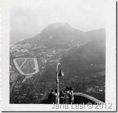 View of Rio de Janeiro Brazil from Observation Deck at Corcovado May 24 1952
