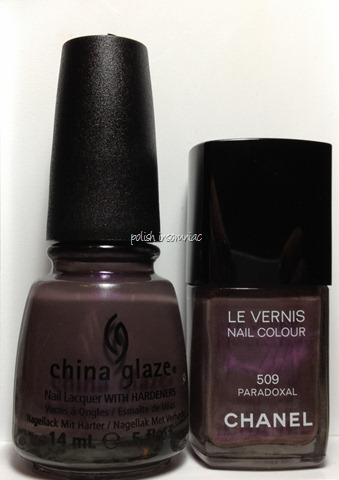 Chanel Paradoxal vs. China Glaze Jungle Queen