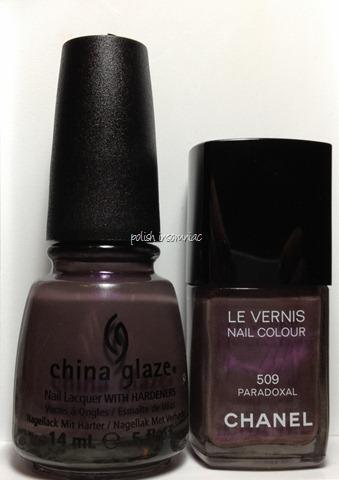 Chanel Paradoxal vs. China Glaze Jungle Queen