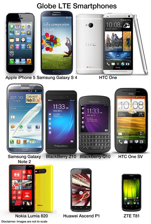 Globe LTE Smartphones
