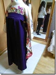女袴の着付け練習 (3)