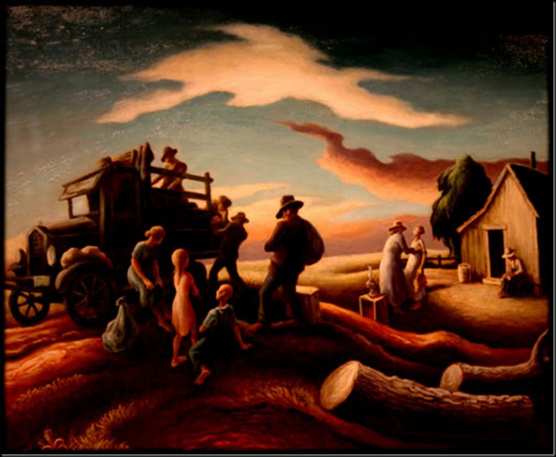 1940 The Departure of the Joads tempera & oil